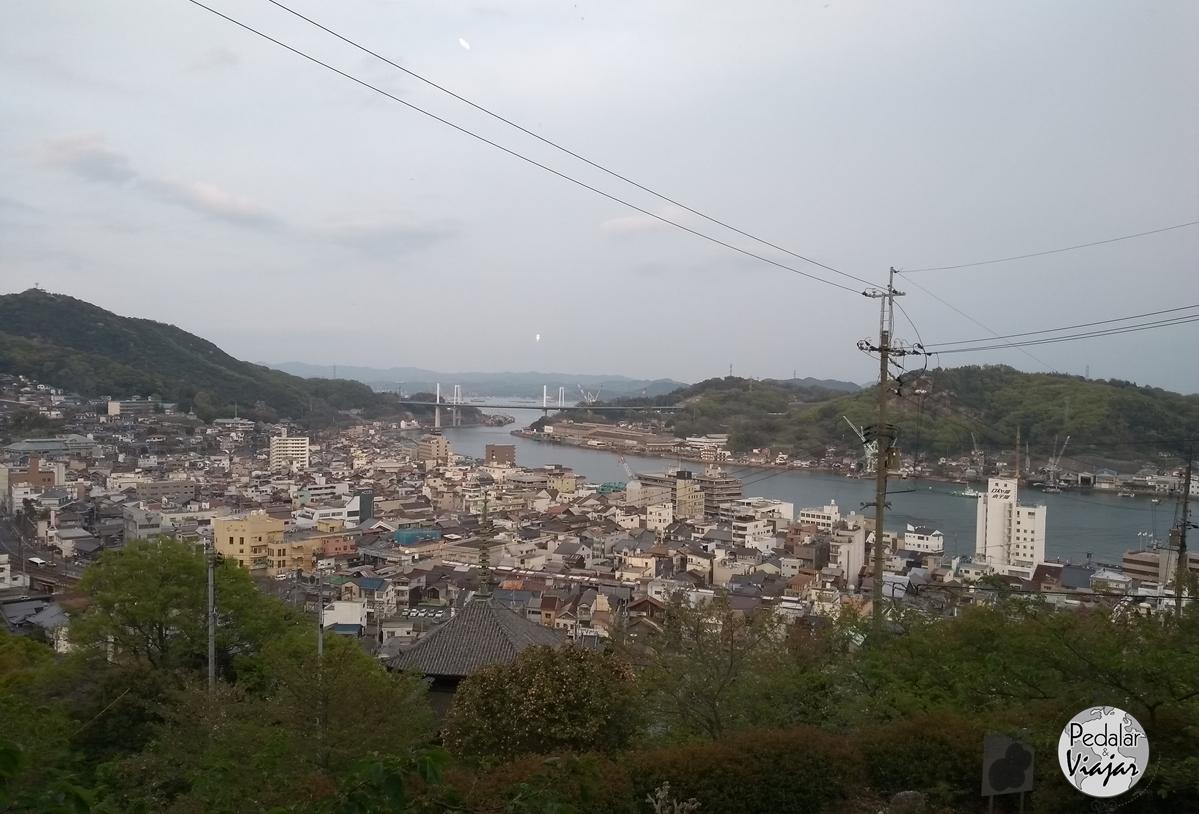 Onomichi vista do alto